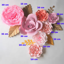Paper Flower Wedding Decorations Giant Paper Flowers Backdrop Artificial Handmade Crepe Paper Rose