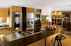 Functional Kitchen A Highly Functional Kitchen Island Pairing Oak And Stainless Steel