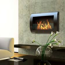 woodland direct s anywhere fireplace chelsea black indoor wall mount fireplace is fueled by clean burning
