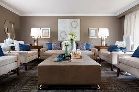 beige and blue living room