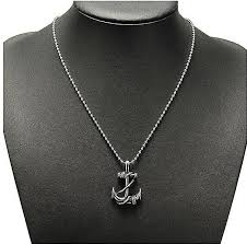 images gallery fashion mens vintage silver stainless steel boat anchor charm