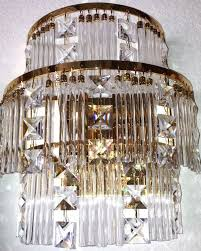 austrian h10xw10 swarovski crystal gold plated structure wall mount chandelier 2 lights for in sun lakes az offerup
