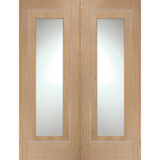 interior clear glass door. XL Joinery Varese Oak With Pre-Finished Internal Door Pair Clear Glass Interior R