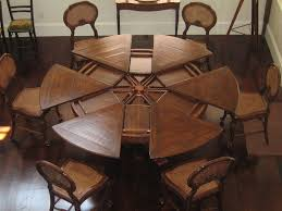 rustic round dining room sets. Expanding Dining Room Table Excellent Decoration Round Unique House Interiors Rustic Sets