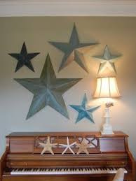 metal wall stars art decor