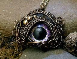 eerie eyeball jewelry glass eye