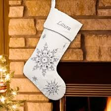 snowflake christmas stockings. Interesting Snowflake Personalized Bedazzled Silver Snowflake Christmas Stocking For Stockings O