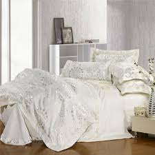 excellent white jacquard bedding set silver and gold forever home master white bedding sets queen decor