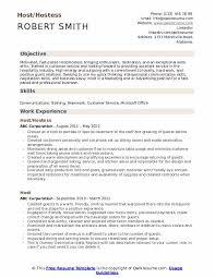 Hostess Rotation Chart Host Resume Samples Qwikresume