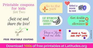 Free Print Coupons Free Printable Reward Coupons For Kids Acn Latitudes