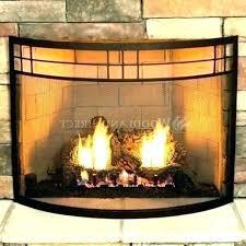 modern glass fireplace screen inserts s