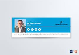 Email Signature Design Architect Email Signature Template