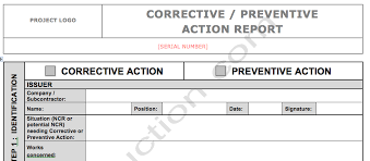 Corrective Action Report Template Word Guatemalago