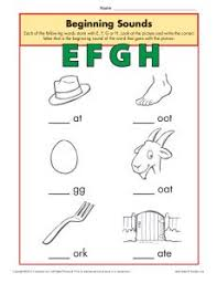 Free interactive exercises to practice online or download as pdf to print. Beginning Sounds Worksheets Efgh Phonics Worksheet
