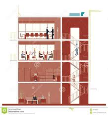 building an office. Building Cross Section An Office