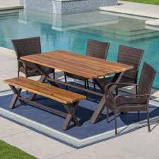 bench included patio dining furniture