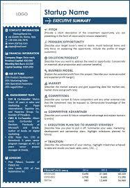 Executive Sumary Executive Summary Template Business Mentor
