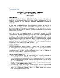 Software Quality Assurance Manager