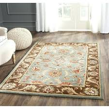 blue brown area rug outstanding hand tufted area rug reviews birch lane with regard to blue blue brown area rug