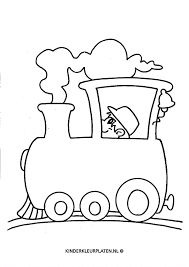 Kleurplaat Stoomtrein Vervoer