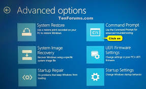 Advanced Options Windows 10 Open Command Prompt At Boot In Windows 10 Tutorials