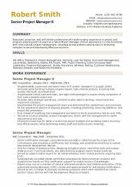 Program Manager Resume Examples Senior Project Manager Resume Samples Qwikresume