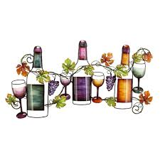 Metal Kitchen Wall Art Decor Uma Grapes And Vines Wine Wall Decori Would Put This In My