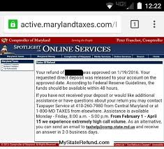 Maryland Tax Refund Cycle Chart State Income Tax Refund State Income Tax Refund Nm