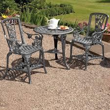 rose bistro furniture set pewter waltons
