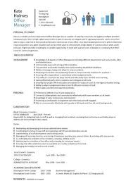 Office Manager Resume Sample New Office Manager CV Sample