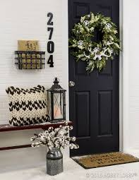 incorporate front door decor that provides a weling energy to your guests