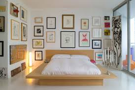 decorating a bedroom. artistic master bedroom ideas with paintings, photographs, and prints decorating a