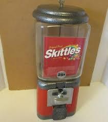 Skittle Vending Machine Stunning VTG ACORN OAK SKITTLES Vending Gum Ball Machine Key Old Orig