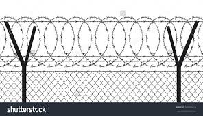 Stock Vector Barbed Wire Fence Barbed Wire Fence Stock Vector