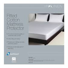 fitted mattress protector. 100% Cotton Fitted Mattress Protector Y