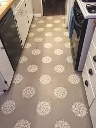 Lino For Kitchen Floors A Warm Conversation Work With What You Got Painted Kitchen Floors
