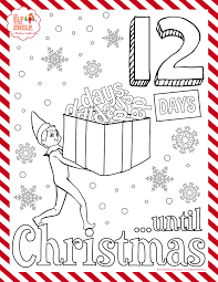 Elf On The Shelf Coloring Sheet Christmas Coloring Pages Clever