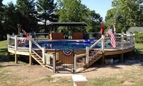 decks for above ground pools round