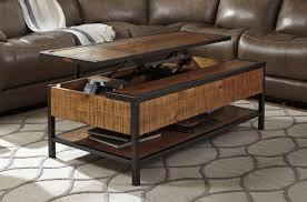 distressed natural wood lift top coffee table  caravana furniture