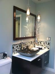 image top vanity lighting. Brilliant Vanity Modern Bathroom Lighting With Two Transparent Glass Pendant  Hanging On The Top Image Vanity I