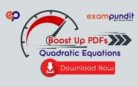 quadratic equation questions pdf 2020