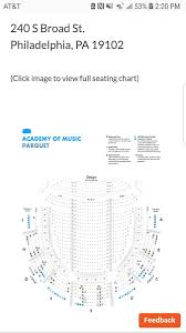 Academy Of Music Seating Chart Parquet