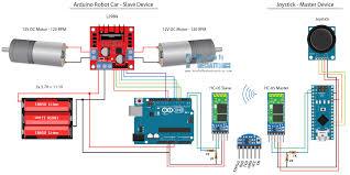 arduino robot car wireless control using hc 05 bluetooth nrf24l01 arduino robot car hc 05 bluetooth control circuit schematic