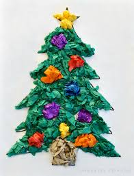 Paper Crafts For Christmas Christmas Tree Tissue Paper Craft Crayon Box Chronicles