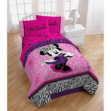 minnie mouse toddler bed set with stripes