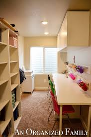 Want some more inspiration for a kids craft homework room  Check out my Pinterest boards for Homework Rooms and Craft Rooms  An Organized Family