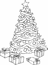 Modest Ideas Christmas Tree To Color Pictures Colour In Fun
