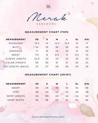 Bella Ammara Size Chart Merak Kebarung Maroon Bella Ammara