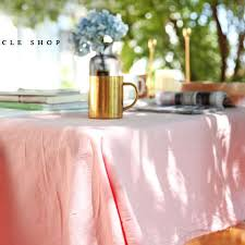 pink black grey white solid color soft cotton tablecloths square rectangle round tablecloth table linen modern simple wedding tablecloth
