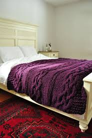 exclusive purple throw blanket – house photos